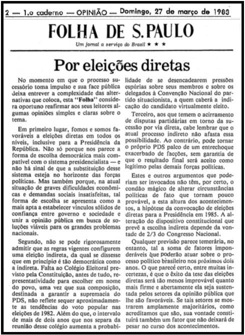 editorial-Folha-27-de-março-de-1983