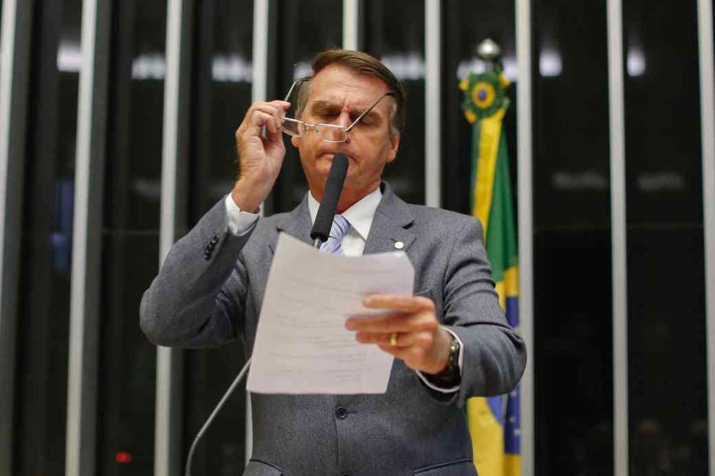 JairBolsonaro-PresidenteDaCamara-Eleicao-CamaraDosDeputados-Plenario-Campanha-FotoSergioLima-02fev2017.