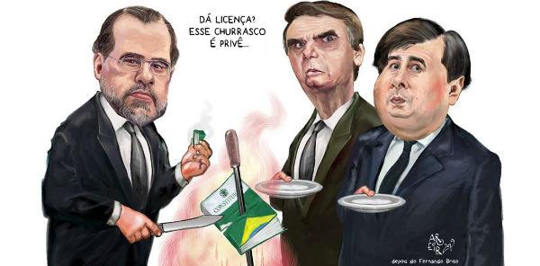 Resultado de imagem para ministro Dias Toffoli, CHARGES - AROEIRA